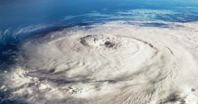A hurricane as seen from space