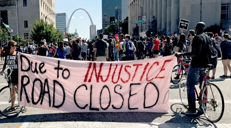 St. Louis Protest Road Closed