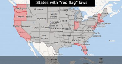 Gun confiscation - States with red flag laws