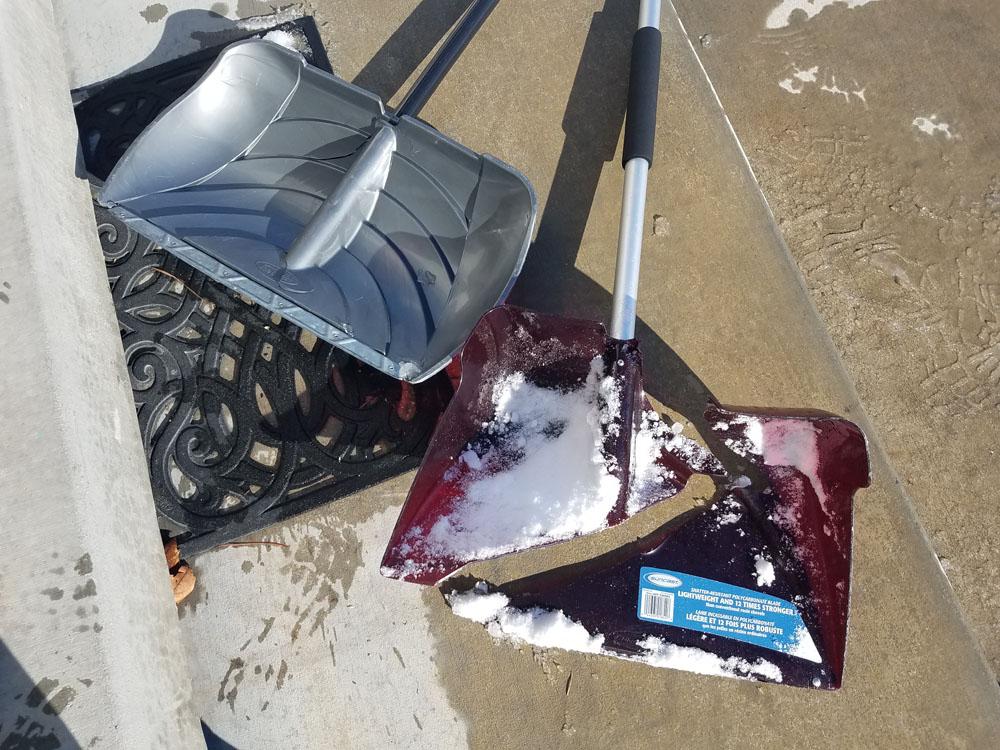 Broken Snow Shovel
